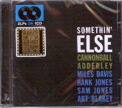ADDERLEY CANNONBALL :  SOMETHIN' ELSE  (PHOENIX)  Tornato a New York, Cannonball, che aveva firmato un accordo per fare un disco, mi ha chiesto di suonare con lui in quella sessione e io l'ho fatto come un favore. Il disco si chiamava Something Else ed era molto bello. Così parla Miles Davis di Something Else nella sua autobiografia. Anche se al momento della sua pubblicazione fu considerato un'ordinaria sessione di registrazione di jazzisti professionisti, la popolarità di questo album è cresciuta negli anni fino ad essere considerato uno dei migliori album jazz di sempre. Nel periodo in cui ha registrato Somethin' Else, Cannonball Adderley aveva già inciso numerosi dischi a proprio nome con il suo quintetto (tra cui Sophisticated Swing, qui incluso come bonus album) ed era membro del sestetto di Miles Davis, al fianco del pianista Bill Evans, del bassista Paul Chambers e del batterista Jimmy Cobb. In Somethin' Else Adderley è affiancato invece, oltre che dallo stesso Miles, da Hank Jones, Sam Jones e Art Blakey.